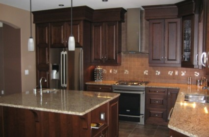 Coffee Bean Stained Cherry Cabinetry