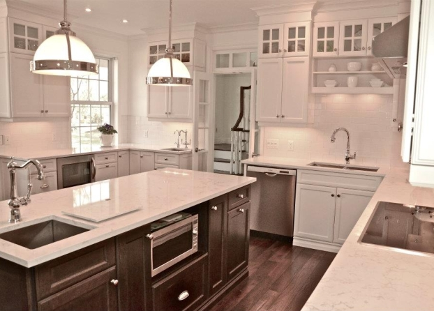 Elegant Cultured Pearl Painted Cabinetry Accent Nightfall